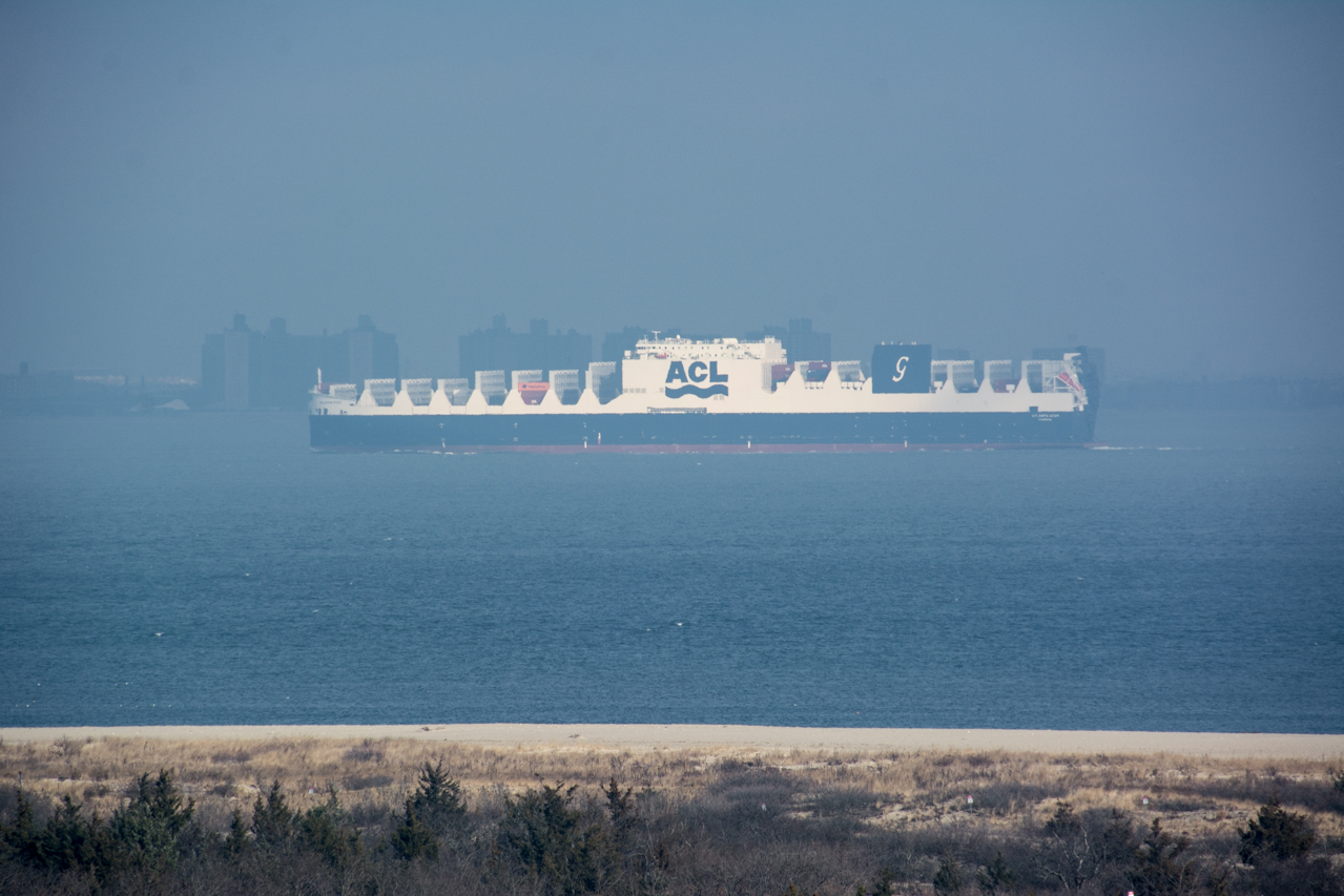 cargo Ship from Sandy Hook Lighthouse